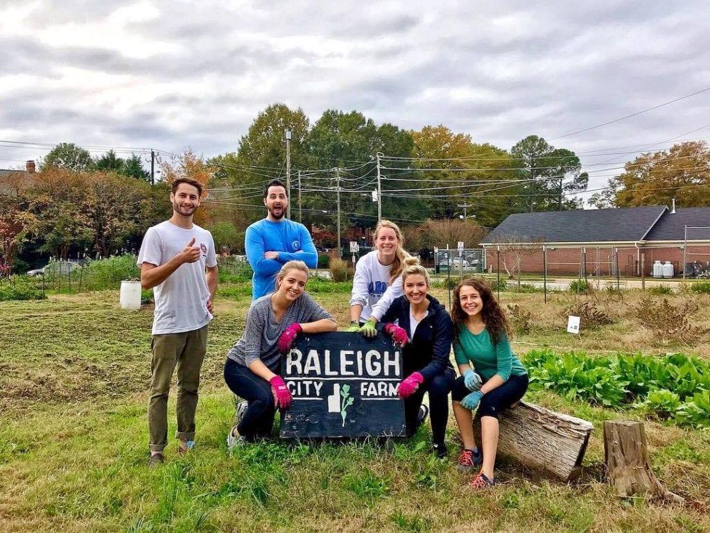 Raleigh city farm volunteer day
