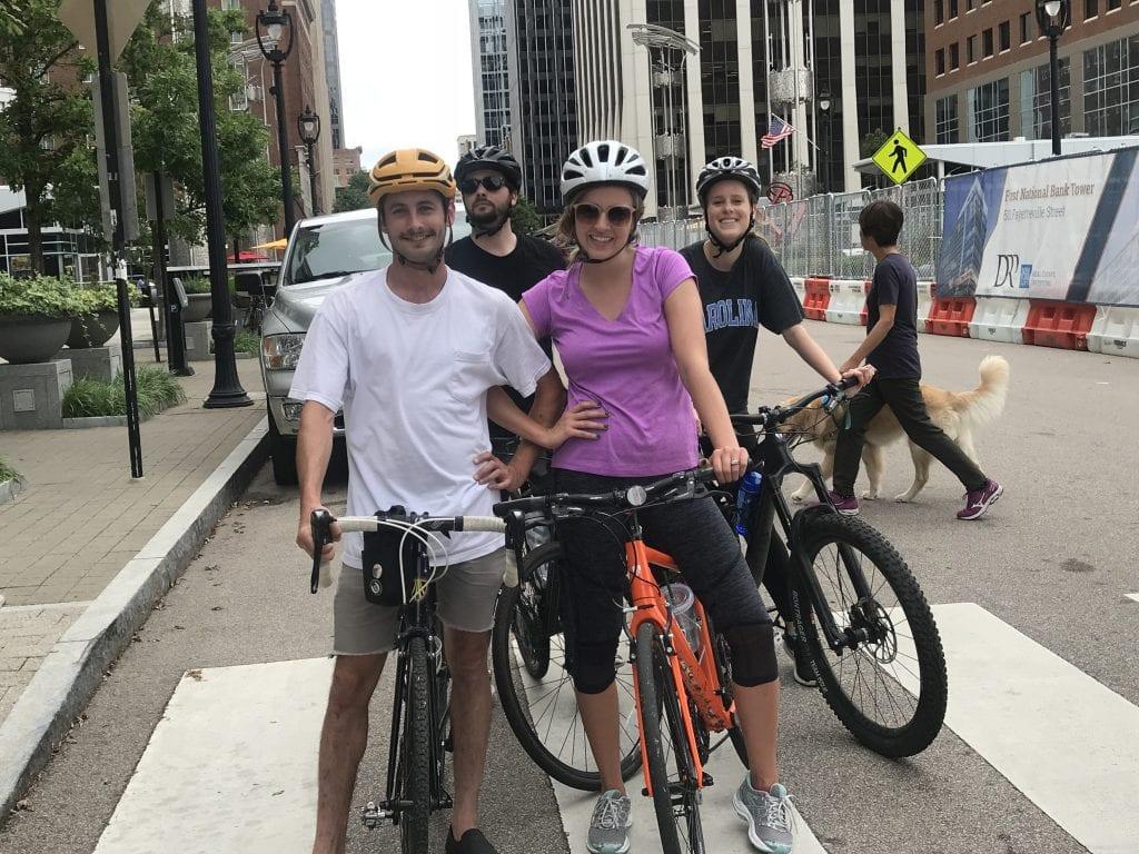 SFW Raleigh bikes to work